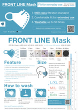 Load image into Gallery viewer, Front Line Mask ~Fit for everyday use~