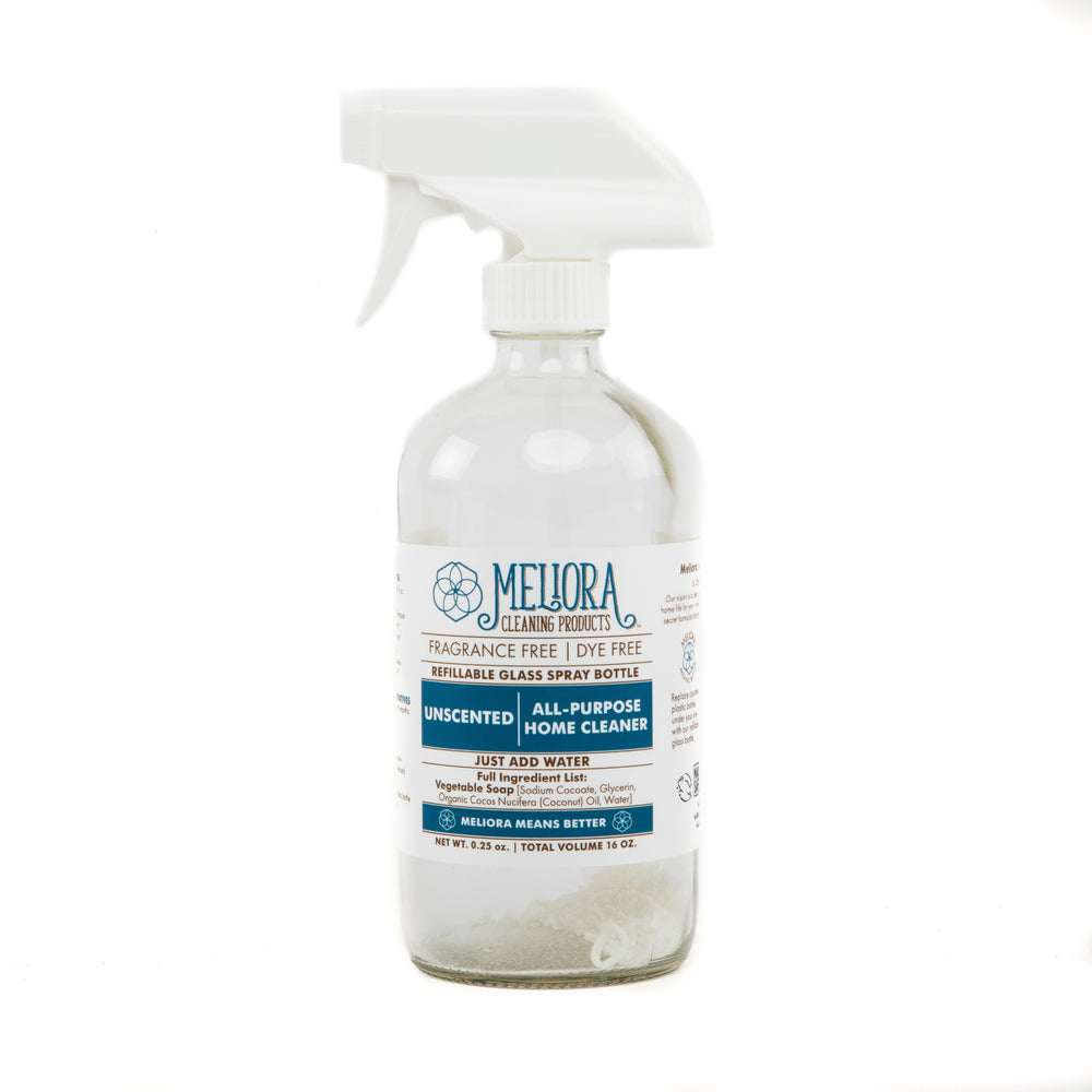 Meliora All-Purpose Home Cleaner in Refillable Glass Spray Bottle