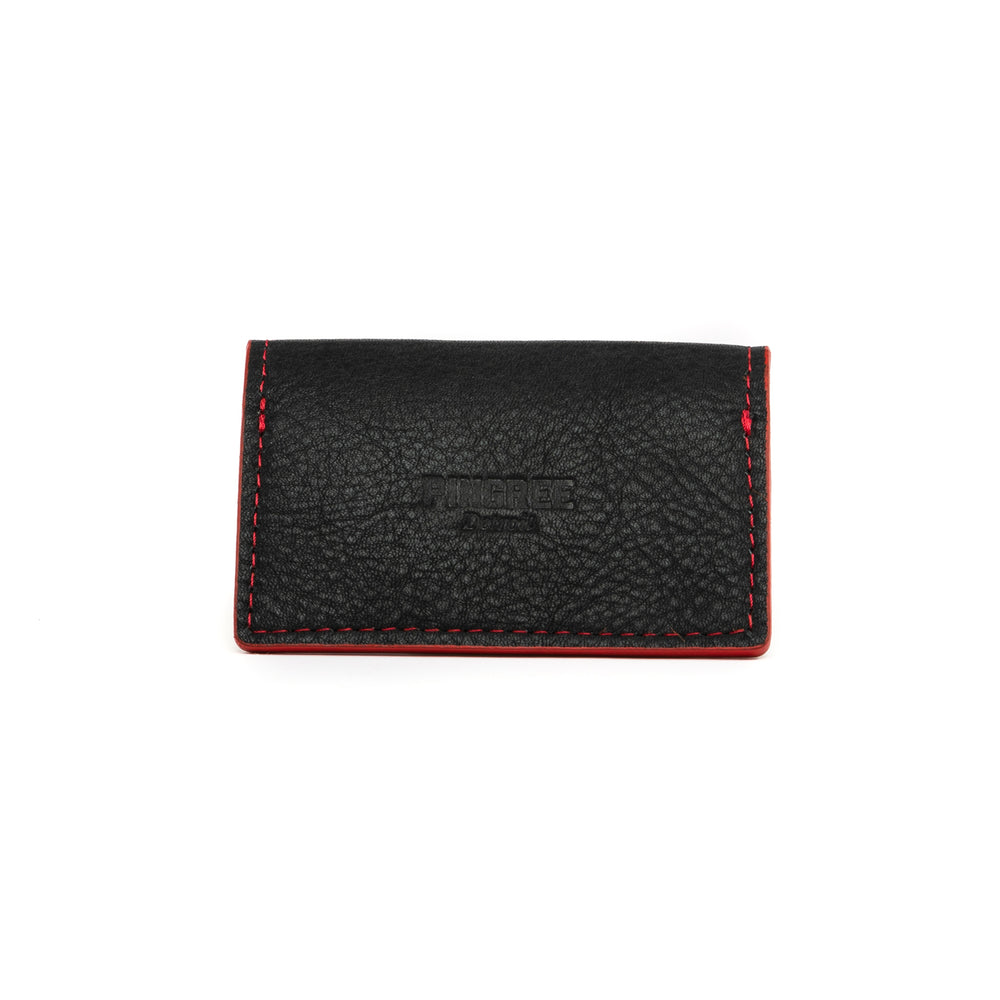 Business Card Holder, Black & Red Accent