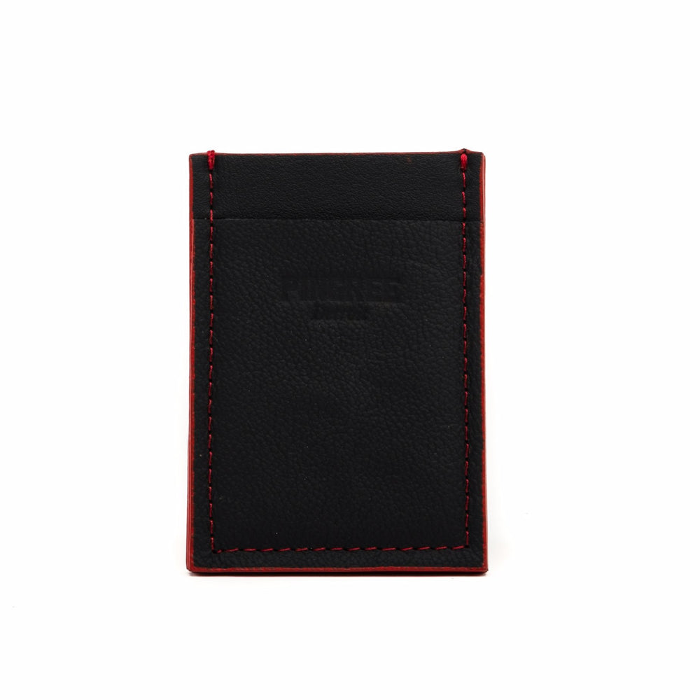 Slim Wallet, Black & Red Accent