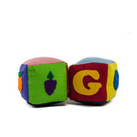 Blocks Vegetable and Letters Set (Sets of 2 Blocks)
