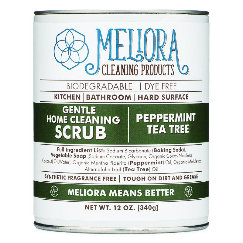 Meliora Gentle Home Cleaning Scrub, Peppermint Tea Tree