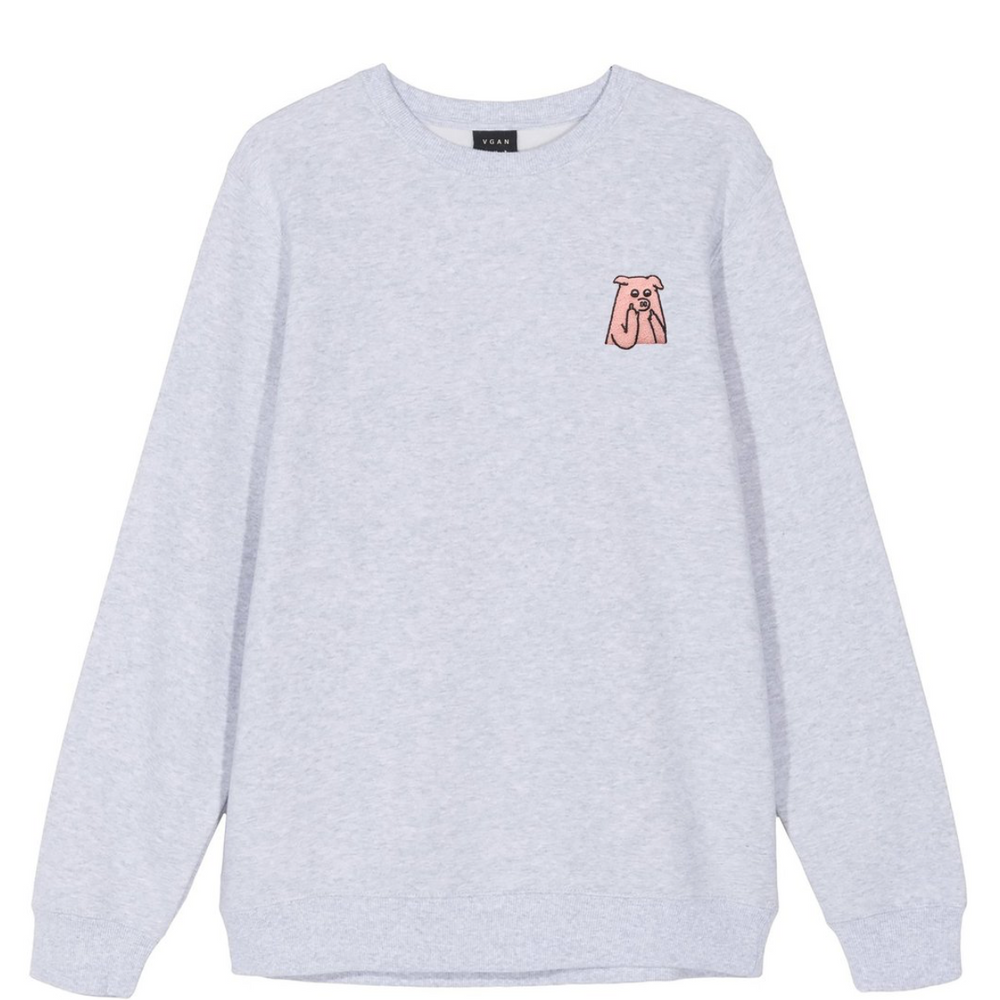 VGAN Crew Neck Sweater GREY