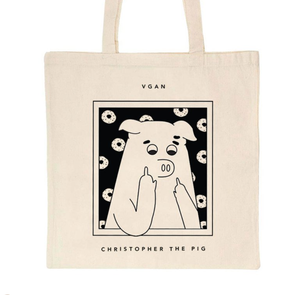 VGAN Christopher The Pig Tote Bag