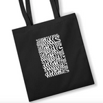 Plant Face Illusions Tote Bag - Stop Eating Animals - Black