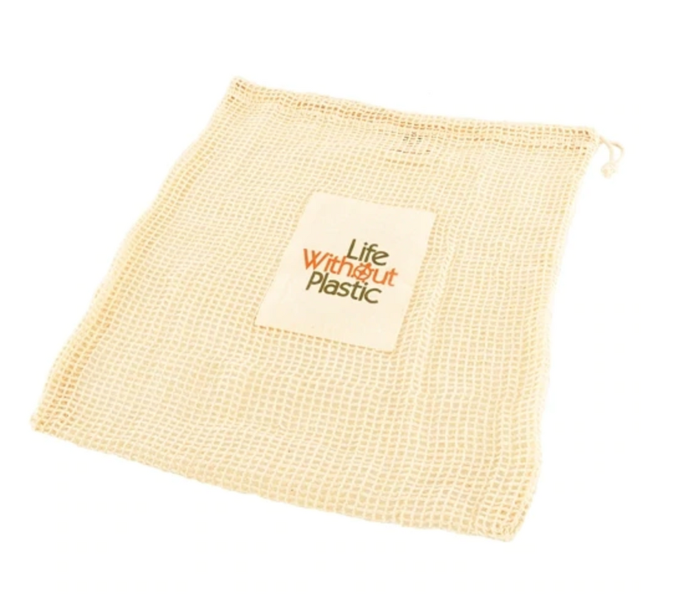 Organic Cotton Mesh Produce Bag - Large