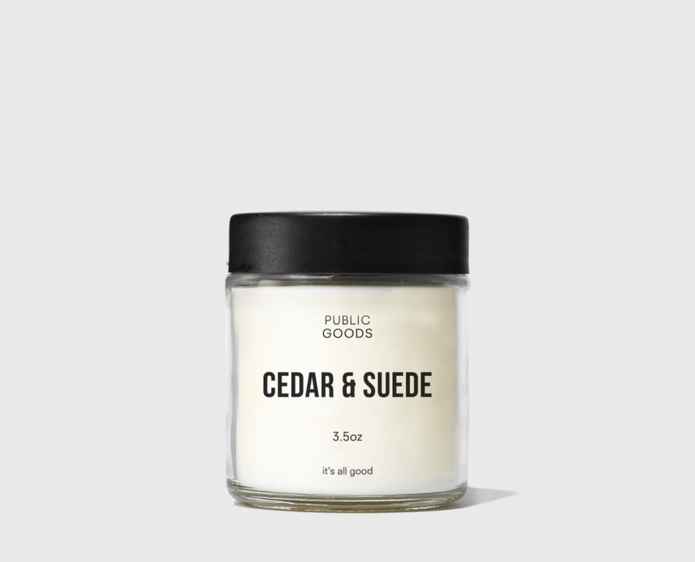 Cedar and Suede Scented Candle