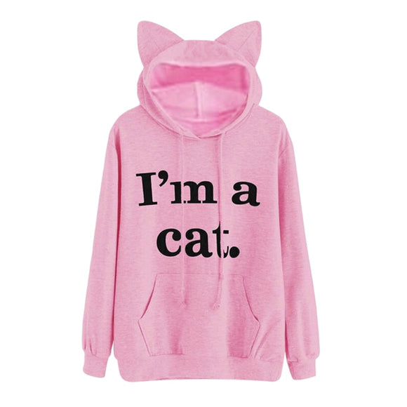I'M A CAT HOODIE WITH EARS
