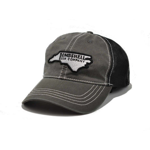 Vintage NC Gray/Black Hat