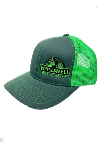 Lime Green & Gray Trucker Hat