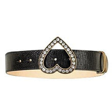 Load image into Gallery viewer, Brama Crystal-Embellished Lizard-Leather Belt
