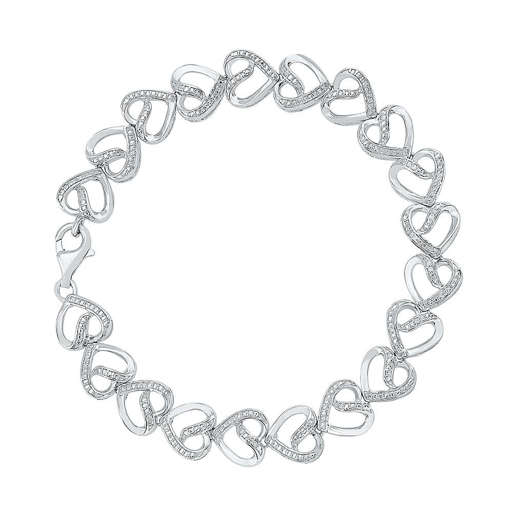 Silver Interlocking Brama Bracelet