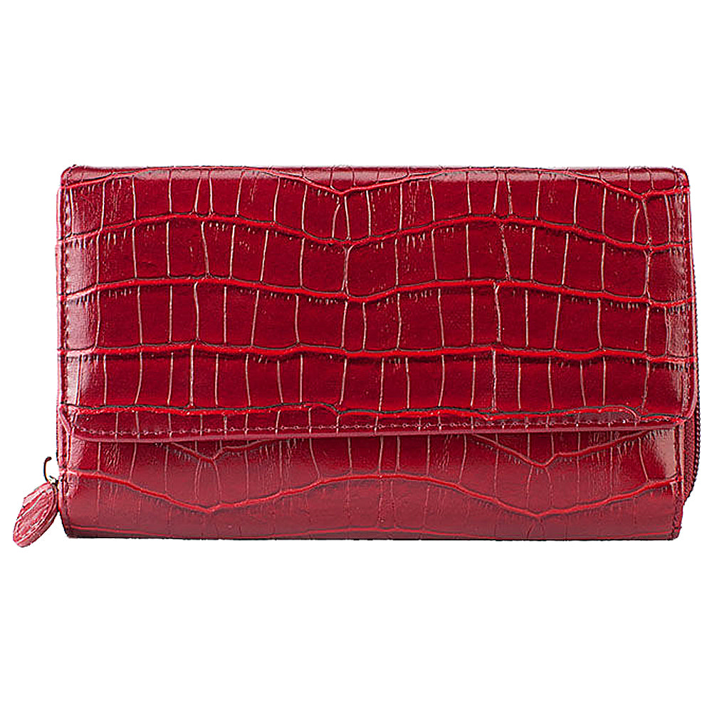 Red Brama Crocodile Wallet