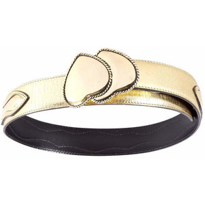 Gold Double Brama Buckle with Leather Belt