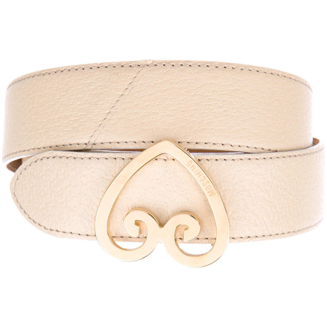 Metallic Brama Buckle with Light Leather Belt