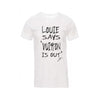 "T-Shirt ""Louie says"" - White"