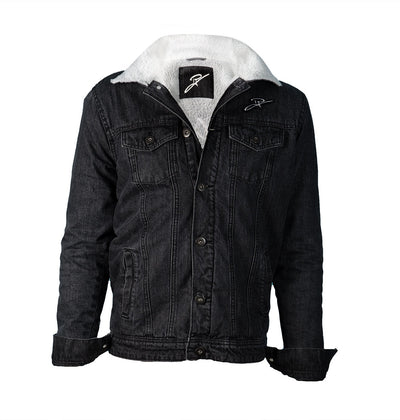 Padded Black Denim Jacket