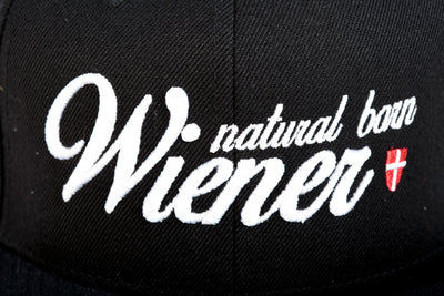 "Snapback Black - ""natural born WIENER"""