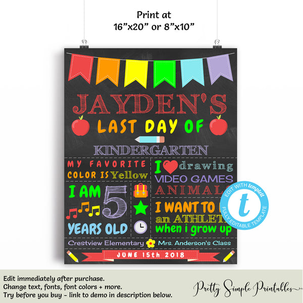 Back to School Board First Day of School Reusable Chalkboard First Day of School Sign First Day of School Chalkboard Back to School