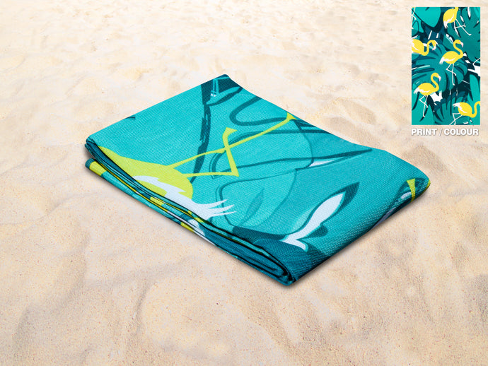 Quicksand Mat Sandlite - Yellow Flamingo 2.0m x 2.0m