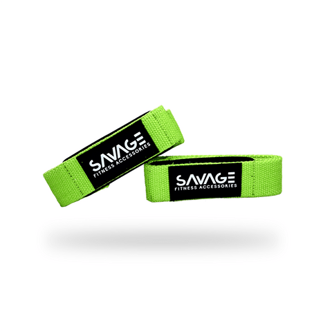 Lifting Straps,Neon Green,Savage Fitness Accessories.