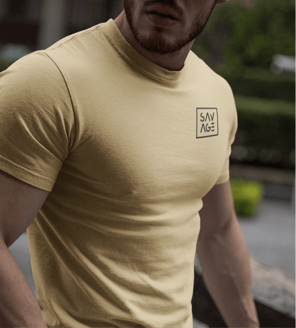 Men's Tee's,Small / Tan,Savage Fitness Accessories.