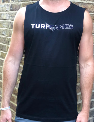 Men's Black Turf Games Split Logo Tank