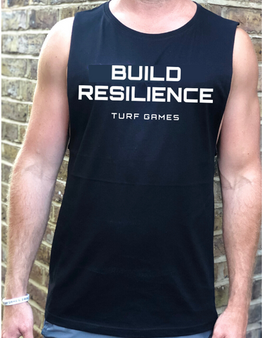 Men's Black Turf Games Build Resilience Tank