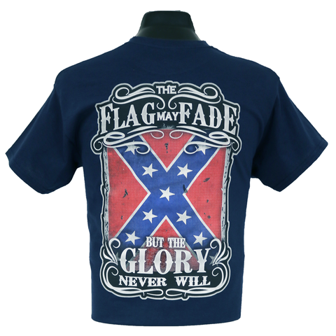 6150 - Southern Addiction The Flag May Fade T Shirt