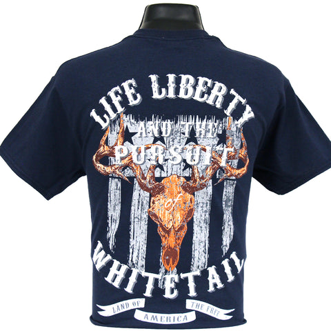 6184 - Southern Addiction Life, Liberty & Pursuit of Whitetail T Shirt