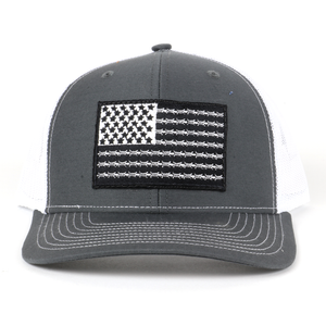 SA132 - Charcoal/White Barbed Wire Flag Cap