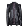 Longcollar Women Leather Blazers - Xosack