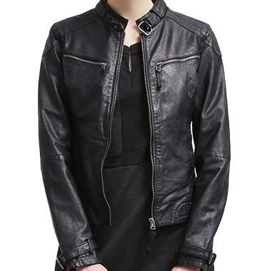 Super Maze Women Classic Leather Jackets
