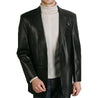 Officers Men Leather Blazers