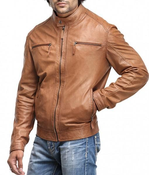 Rohnny Men Biker Leather Jackets