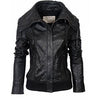 Slimberny Women Bomber Leather Jackets - Xosack
