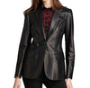 Slimish Women Leather Blazers - Xosack