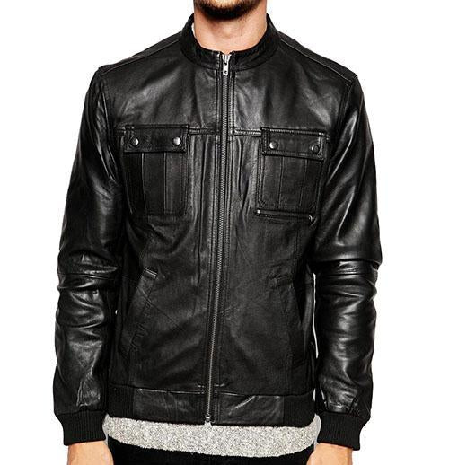 Spinner Men Bomber Leather Jackets