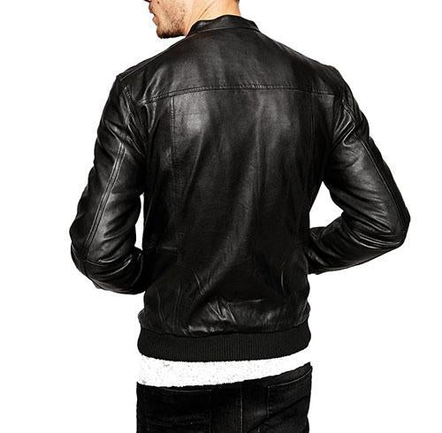 Spinner Men Bomber Leather Jackets - Xosack