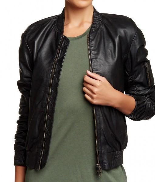 Super Timmy Women Bomber Leather Jackets