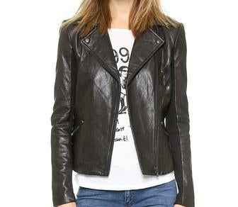 Mega Women Classic Leather Jackets - Xosack