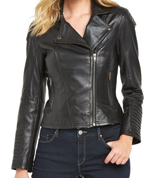 Venson Women Biker Leather Jackets