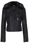 Widecollar Women Biker Leather Jackets - Xosack
