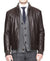Zip Front Men Bomber Leather Jackets