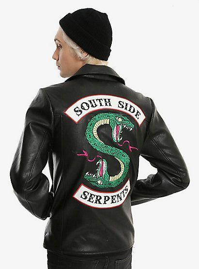 LP-FACON Riverdale Southside Serpents Gang Mens Biker Leather Jacket
