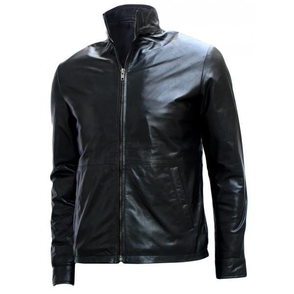 Black Biker Minority Report Leather Jacket