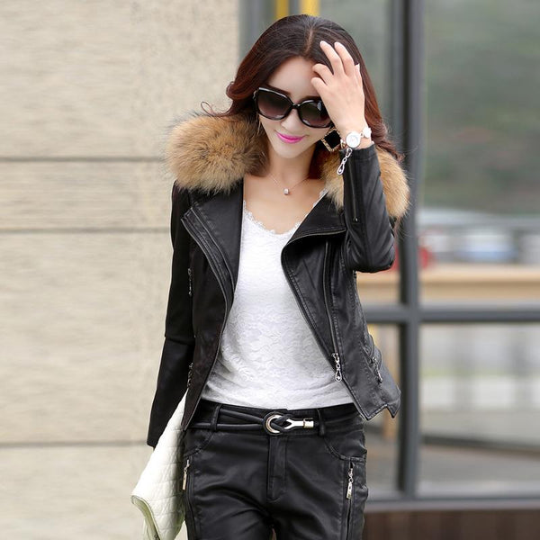 slim short design motorcycle leather jackets