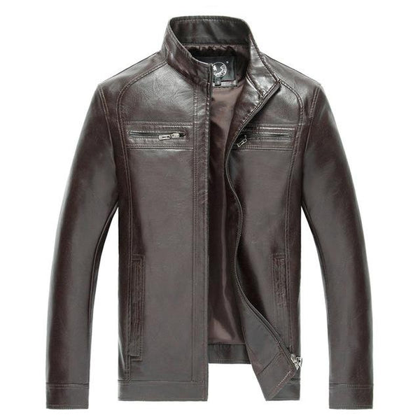 High Quality New Style Brand Luxury Fashion Men's Leather Jacket