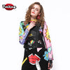 Cute Cartoon Graffiti Printing Street Short Leather Jacket