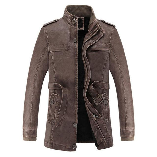 washed Leather Motorcycle Biker Jackets